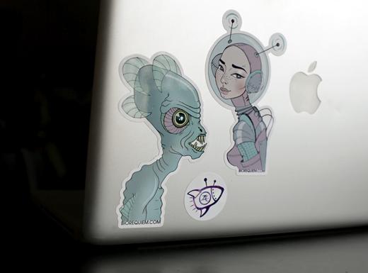 Spacefriends sticker set by Zoetica Ebb